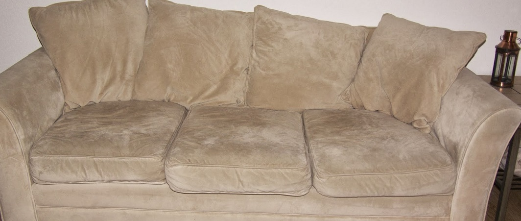 Sofa before cleaning