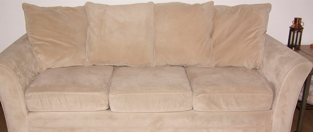 sofa after cleaning